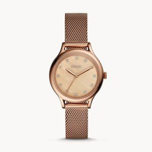 🌼 NWT Fossil watch in rose gold tones